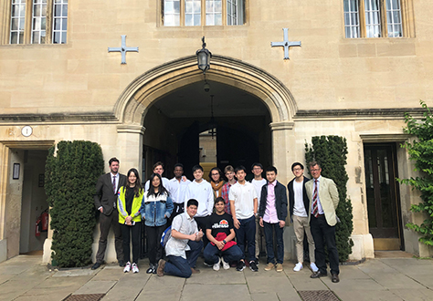 Pupils visit Oxford University