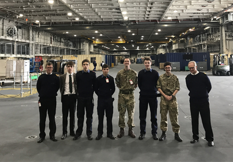 Pupils visit HMS Queen Elizabeth