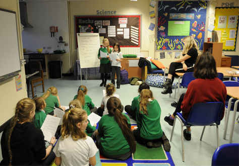 Pupils Run Clubs at Local School