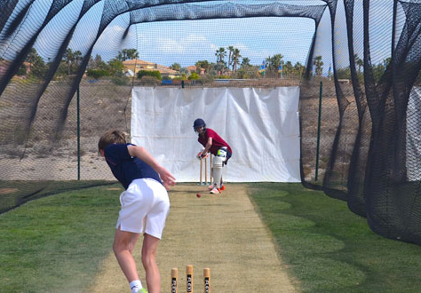 Squad training at  Desert Springs Cricket Academy