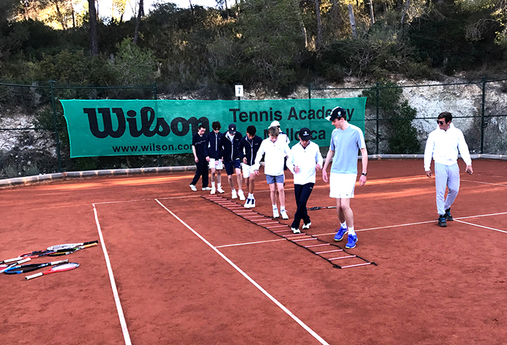 Tennis training in Mallorca