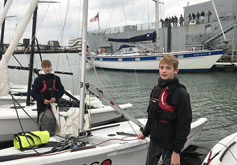 C'house Sailors Battle Elements at Regatta