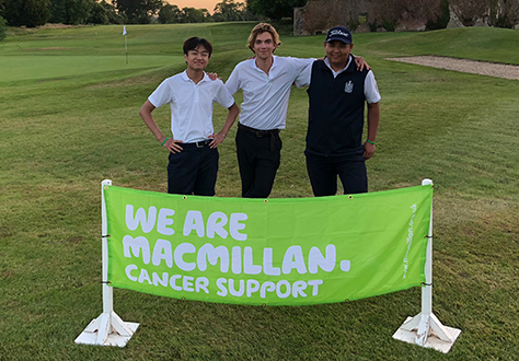 3 pupils complete 4 rounds of golf for charity